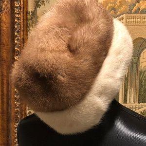 Miss Alice Furrier Montaldo's Mink Fur Hat Vintage